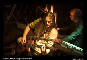 Phil Mercy playing his double-neck guitar