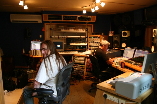 Phil Mercy and Rob Aubrey at Aubitt studios